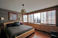 Shoji window screen treatment for Park Avenue residence