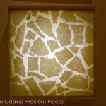 "IW0056 illuminated Washi wall piece, 18"" x 18"""