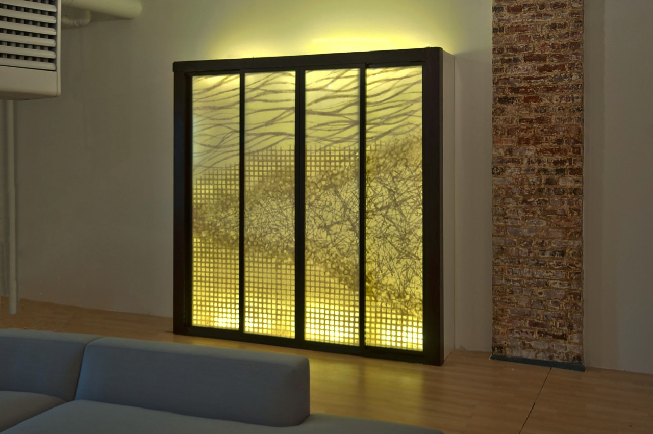 Laminated Glass Panel – Precious Pieces - Architectural Parchment ...