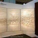 """FW0029a illuminated Washi panels ICFF 2013 48"""" x 70"""" each"""
