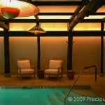 "IW027 swimming pool in hotel, NYC, back lit panels below the ceiling 60"" x 20"" each"