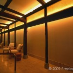 "IW028 swimming pool in hotel, NYC, back lit panels below the ceiling 60"" x 20"" each"