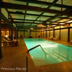 "IW029 swimming pool in hotel, NYC, back lit panels below the ceiling 60"" x 20"" each"