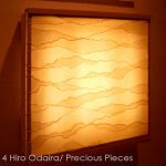 "IW0060, illuminated Washi wall piece, 18"" x 18"""