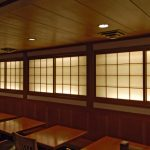 SD0056 back lit shoji doors for Japanese restaurant, NYC