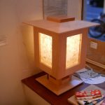 "LT0085 tabletop lamp, 12"" x 12"" x 20"""