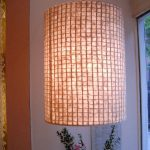 "LT0085 Washi ceiling lamp, retail store, NY ø18"", 30"" height"