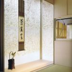 RD0036 glass laminated Washi for Japanese style reading room, 10' height