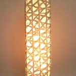 "AC-0085 Washi floor lamp, 8"" x 8"" x 64"""