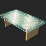 "AC-0039 Washi Laminated Glass Table 48"" x 24"""