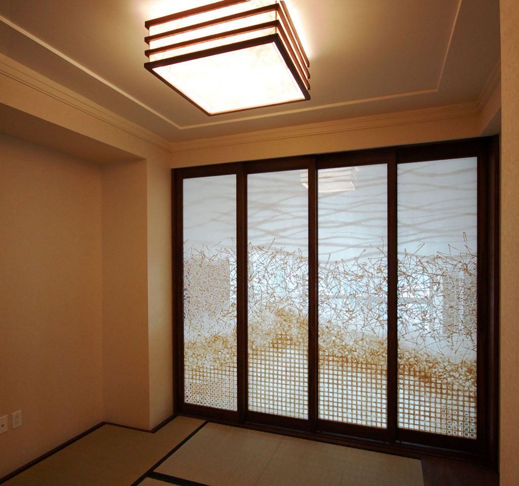 washi wood framed sliding doors
