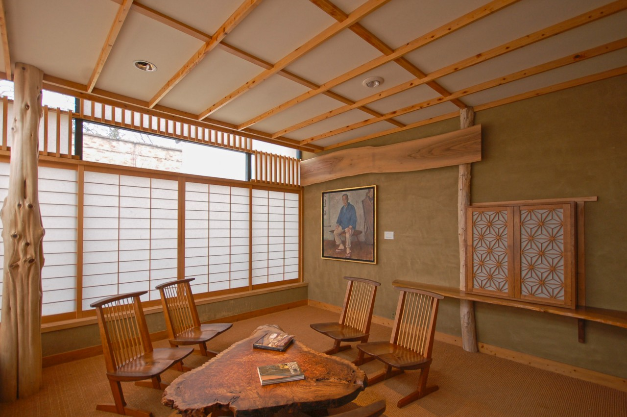 shoji screen restoration project at michener art museum