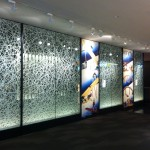 "RD0040 building corridor, glass laminated Washi 50"" x 108"" each panel"