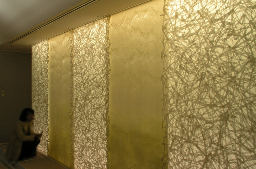Wall Decoration Plastic Sheets : Method of placing washi to glass acrylic panels