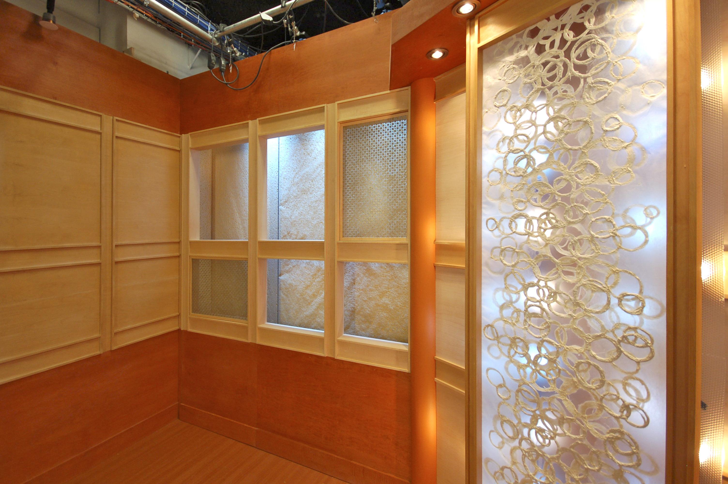 Acrylic Window Panels : Method of placing washi to glass acrylic panels