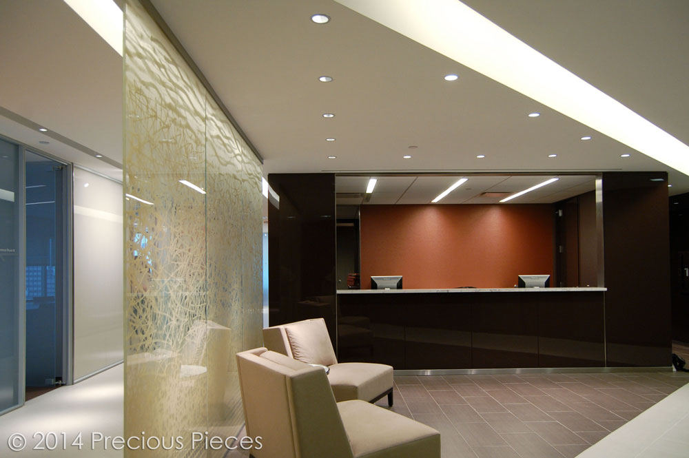 The View Of Waiting Area With Reception Desk