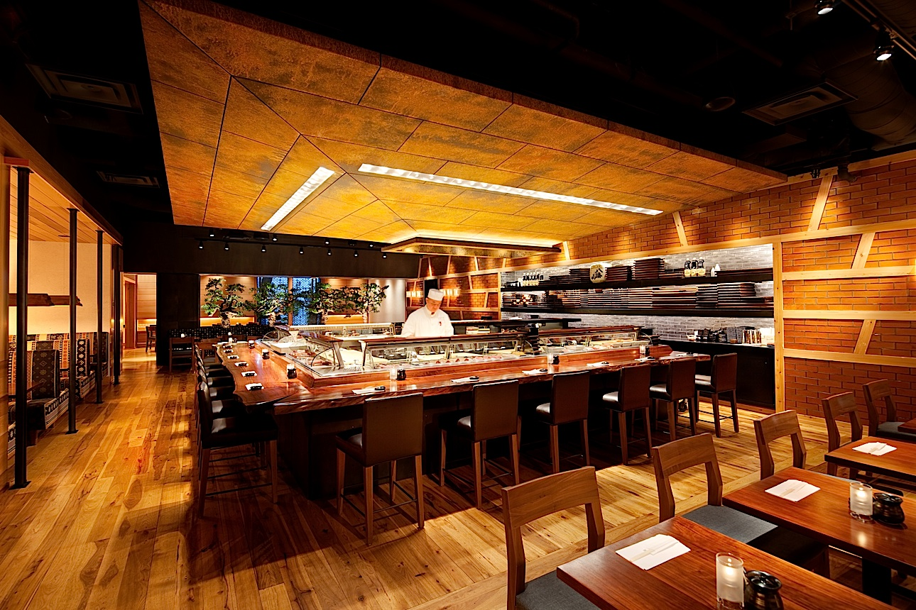Washi floor lamps for blue ribbin sushi las vegas for Asian cuisine nyc