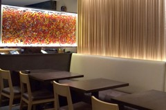 Art  Washi Screen At An Upscale Japanese Restaurant