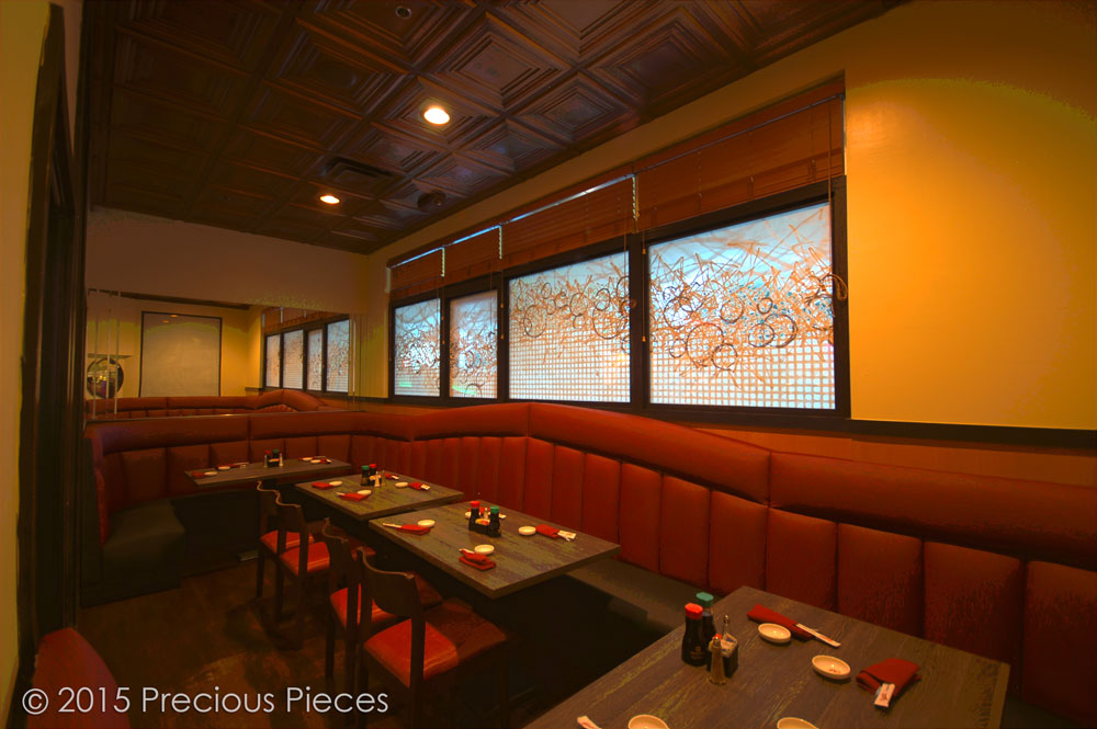 Saito's Stake House dining window