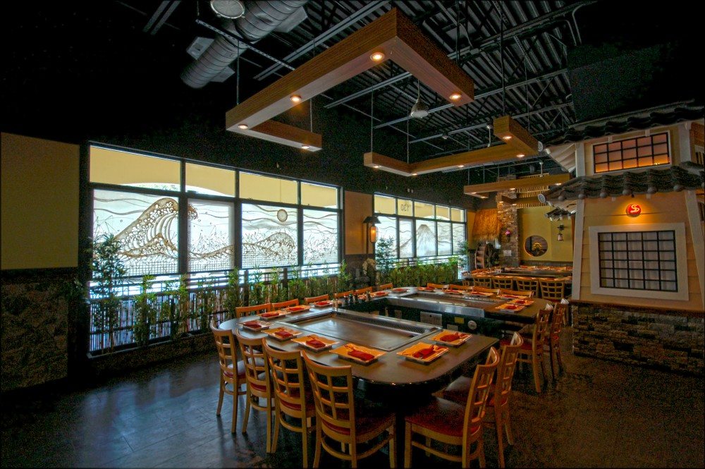 Extra Large Washi Windows For Hibachi Restaurant Dining