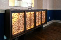 George Nakashima Cabinet with Precious Pieces' Washi