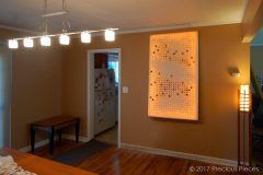 Illuminated Washi Wall Art for Modern Living