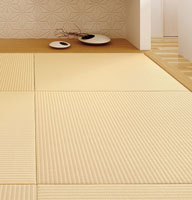 Washi Tatami has the look of straw mats, but are made with Japanese paper, Washi