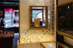 Custom Laminated Washi Show Window For Jewelry Store
