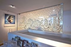 Custom Art Washi Laminated Glass Wall