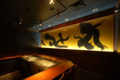 Illuminated Mural for Upscale Hibachi Restaurant