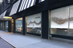 Art Washi Parchment Window Shades in a Prestigious Department Store NYC