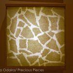 "IW0056, illuminated Washi wall piece, 18"" x 18"""