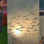 """FW0035 glass laminated Washi, ICFF 2013 36"""" x 52"""""""
