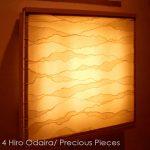 "IW0060, illuminated Washi wall piece, 18"" x 18"""