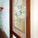 """FW0043 restored Washi scroll and picture frame, Columbia Univ., NYC 24"""" x 90"""""""