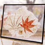 "AC-0015 Washi art work, 7"" x 5"" (w frame)"