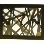 "AC-0030 Washi art work, 12"" x 10"""