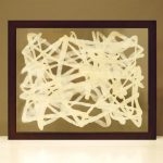 "AC-0036 Washi art work, 12"" x 10"""