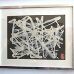 """AC-0033 Washi art work 13"""" x 17"""" (w/o frame)"""