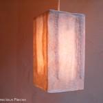 """AC-0050 Washi ceiling lamp shade, 6"""" x 6"""" x 12"""""""