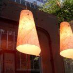 "AC-0052 Washi ceiling lamp shade, top ø8"", bottom ø14"", 24"" height"