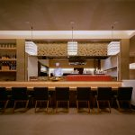 """LT0002 ceiling lamps, Japanese restaurant, NYC, 12"""" x 24"""" x 20"""" each"""