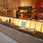 "SG-0016 illuminated Washi, retail store window, NYC 18"" height"