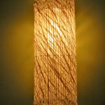 """LT0081 Washi ceiling lamp, private residence, NY ø12"""", 48"""" height"""