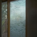 """SD0011 private residence, Washi laminated glass doors 60"""" x 80"""""""
