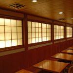 SD0058 back lit shoji doors for Japanese restaurant, NYC
