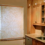"""WT0081 Washi roll-up screen, private residence, NYC 48"""" x 55"""""""