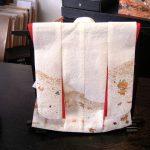 AC-0082 Japanese traditional kimono dress made with Washi
