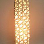 """AC-0085 Washi floor lamp, 8"""" x 8"""" x 64"""""""