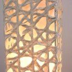 """AC-0086 Washi floor lamp, 8"""" x 8"""" x 64"""""""